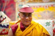 Его Святейшество Далай-лама во время учений. Клагенфурт, Австрия. 19 мая 2012 г. Фото: Тензин Чойджор (Офис ЕСДЛ)