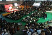 Спорткомплекс Palasport Primo Carnera, место проведения встреч с Его Святейшеством Далай-ламой. Удине, Италия. 22 мая 2012 г. Фото: Jeremy Russel (Офис ЕСДЛ)