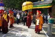 Официальная церемония встречи Его Святейшества Далай-ламы в центре Йонтен Линг. Юи, Бельгия. 23 мая 2012 г. Фото: Тензин Такла (Офис ЕСДЛ)