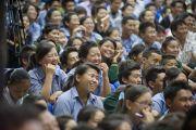 Три тысячи тибетских учащихся собрались в зале собраний Детской тибетской деревни на трехдневные учения Его Святейшества Далай-ламы по основам буддизма. Дхарамсала, Индия. 1 июня 2012 г. Фото: Тензин Чойджор (Офис ЕСДЛ)