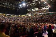 """""""Манчестер Арена"""", место проведения учений и лекций Его Святейшества Далай-ламы. Манчестер, Великобритания. 17 июня 2012 г. Фото: Джереми Рассел (Офис ЕСДЛ)"""
