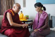 Его Святейшество Далай-лама с Аун Сан Су Джи в Лондоне, Великобритания. 19 июня 2012 г. Фото: Джереми Рассел (Офис ЕСДЛ)