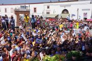 Слушатели выступления Его Святейшество в Палаццо Баронале в Матере, Италия, 25 июня 2012 г. Фото: Джереми Рассел (Офис ЕСДЛ)