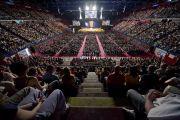 "Зал ""Милано Форум"" - место проведения учений Его Святейшества Далай-ламы в Милане, Италия. 28 июня 2012 г. Фото: Тензин Чойджор (Офис ЕСДЛ)"