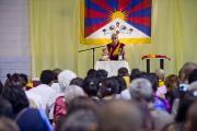Его Святейшество Далай-лама на встрече с монгольцами и тибетцами, проживающими в Европе. Милан, Италия. 28 июня 2012 г. Фото: Тензин Чойджор (Офис ЕСДЛ)
