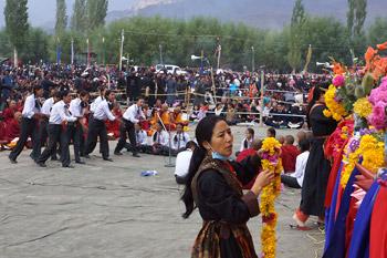 Третий день учений Его Святейшества Далай-ламы в Лехе