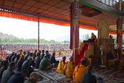 Его Святейшество Далай-лама, третий день учений в Лехе, Ладак. Штат Джамму и Кашмир, Индия. 6 августа 2012 г. Фото: Джереми Рассел (офис ЕСДЛ)