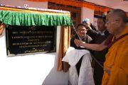 Его Святейшество Далай-лама открывает школу Ландонг Джамьянг в Кхалси, Ладак. Штат Джамму и Кашмир, Индия. 11 августа 2012 г. Фото:  Тензин Такла (Офис ЕСДЛ)