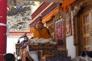 Его Святейшество Далай-лама дарует учения в Дха-Бема, отдаленном районе Ладака, населенном индо-арийскими племенами. Штат Джамму и Кашмир, Индия. 11 августа 2012 г. Фото:  Тензин Такла (Офис ЕСДЛ)