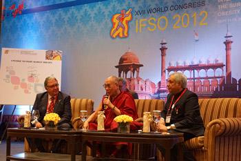 Его Святейшество Далай-лама выступил перед участниками медицинской конференции Международной федерации хирургии ожирения и метаболических нарушений