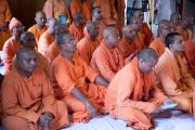 Участники межконфессионального молебна в храме Шри Рамакришны. Дели, Индия. 11 сентября 2012 г. Фото: Тензин Чойджор (Офис ЕСДЛ)