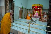 Его Святейшество Далай-лама в храме Шри Рамакришны. Дели, Индия. 11 сентября 2012 г. Фото: Тензин Чойджор (Офис ЕСДЛ)