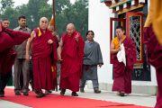Его Святейшество Далай-лама в монастыре Миндролинг в тибетском поселении Клемент Таун, Индия. 13 сентября 2012 г. Фото: Тензин Чойджор (Офис ЕСДЛ)