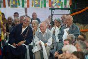 Во время выступления Его Святейшества Далай-ламы в центре тибетских ремесел в Раджпуре, Индия. 16 сентября 2012 г. Фото: Тензин Чойджор (Офис ЕСДЛ)