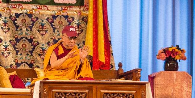 Его Святейшество Далай-лама даровал учение о срединных ступенях созерцания в Массачусетском технологическом институте