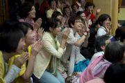Участники учений Его Святейшества Далай-ламы для буддистов из Тайваня. Дхарамсала, Индия. 1 октября 2012 г. Фото: Тензин Чойджор (Офис ЕСЛД)