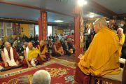 Его Святейшество Далай-лама обращается к своим тибетцам в буддийском цетнре Курукулла. Медфорд, штат Массачусетс, США. 16 октября 2012 г. Форо: Sonam Zoksang