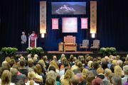 Его Святейшество Далай-лама в центре О'Нила университета Западного Коннектикута. Денбери, штат Коннектикут, США. 19 октября 2012 г. Фото: WCSU