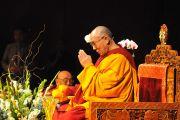 Его Святейшество Далай-лама во время учений в Линкольн-центре. Нью-Йорк, штат Нью-Йорк, США. 21 октября 2012 г. Фото: Sonam Zoksang