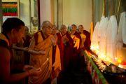 Его Святейшество Далай-лама в монастыре Ганден. Мандгод, штат Карнатака, Индия. 30 ноября 2012 г. Фото: Manuel Bauer