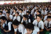 Тибетские школьники на праздновании 23-летия вручения Далай-ламе Нобелевской премии мира. Мандгод, Индия. 10 декабря 2012 г. Фото: Тензин Чойджор (офис ЕСДЛ)