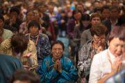 Во время учений Его Святейшества Далай-ламы для российских буддистов. Нью-Дели, Индия. 26 декабря 2012 г. Фото: Тензин Чойджор (Офис ЕСДЛ)