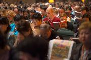 На учения Его Святейшества Далай-ламы приехали более тысячи человек из России и стран СНГ. Нью-Дели, Индия. 25 декабря 2012 г. Фото: Джереми Рассел (Офис ЕСДЛ)