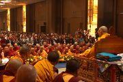 Его Святейшество Далай-лама дарует учения для российских буддистов в Нью-Дели, Индия. 24 декабря 2012 г. Фото: Джереми Рассел (Офис ЕСДЛ)