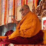Первый день учений Его Святейшества Далай-ламы по тексту Шантидевы в Сарнатхе