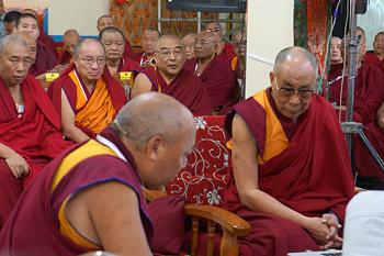 Заключительный день конференции института «Ум и жизнь» в монастыре Дрепунг