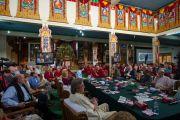 """Третий день 26-й конференции института """"Ум и жизнь"""" в монастыре Дрепунг Лачи. Мандгод, Индия. 19 января 2013 г. Фото: Тезнин Чойджор (Офис ЕСДЛ)"""