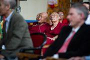 """Во время 26-й конференции института """"Ум и жизнь"""" в монастыре Дрепунг Лачи. Мандгод, Индия. 18 января 2013 г. Фото: Тезнин Чойджор (Офис ЕСДЛ)"""