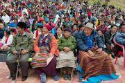 Пожилые тибетцы на церемонии освящения статуи Будды, Татхагата Цал. Равангла, штат Сикким, Индия. 25 марта 2013 г. Фото: Тензин Чойджор (офис ЕСДЛ).