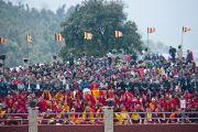 Во время церемонии освящения статуи Будды Татхагата Цал. Равангла, штат Сикким, Индия. 25 марта 2013 г. Фото: Тензин Чойджор (офис ЕСДЛ).