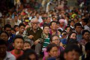 На учения Его Святейшества Далай-ламы в Салугаре собрались более двадцати пяти тысяч человека. Западная Бенгалия, Индия. 28 марта 2013 г. Фото: Тензин Чойджор (офис ЕСДЛ).