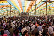 Вид на место проведения учений Его Святейшества Далай-ламы в Салугаре. Западная Бенгалия, Индия. 27 марта 2013 г. Фото: Тензин Чойджор (офис ЕСДЛ).