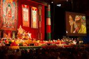 """Второй день учений Его Святейшества Далай-ламы по тексту Атиши """"Светоч на пути к пробуждению"""". Фрайбург, Швейцария. 14 апреля 2013 г. Фото: Manuel Bauer"""