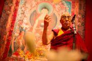 Его Святейшество Далай-лама обращается к тибетцам, живущим в Швейцарии. Фрайбург, Швейцария. 14 апреля 2013 г. Фото: Manuel Bauer