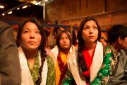 Во время встречи Его Святейшества Далай-ламы с тибетцами, живущими в Швейцарии. Фрайбург, Швейцария. 14 апреля 2013 г. Фото: Manuel Bauer