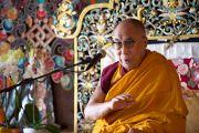 Во время посещения Его Святейшеством Далай-ламой Тибетского института. Рикон, Швейцария. 17 апреля 2013 г. Фото: Manuel Bauer