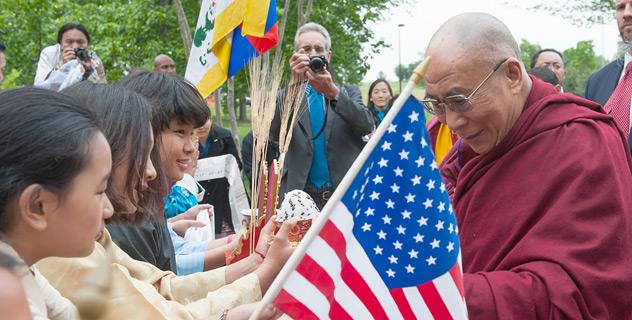 Начался визит Его Святейшества Далай-ламы в США