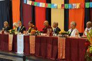 """Его Святейшество Далай-лама на официальном обеде в честь открытия центра за мир """"Палмо"""" в Орегонском университете. Юджин, штат Орегон, США. 0 мая 2013 г. Фото: Джереми Рассел (офис ЕСДЛ)"""