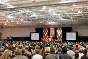 """Зал в центре """"Эллиент энерджи"""", где Его Святейшество Далай-лама даровал учения. Мэдисон, штат Висконсин, США. 14 мая 2013 г. Фото: Шераб Лхацанг."""