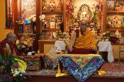 Его Святейшество Далай-лама во время посещения института Дрепунг Гоманг. Луисвилль, штат Кентукки, США. 19 мая 2013 г. Фото: Джереми Рассел (офис ЕСДЛ)
