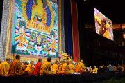 Сцена в центре Yum в Луисвилле, где проходили учения Его Святейшества Далай-ламы. Штат Кентукки, США. 20 мая 2013 г. Фото: Джереми Рассел (офис ЕСДЛ)