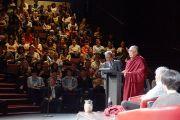 Его Святейшество Далай-лама выступает перед студентами и сотрудниками университета Сиднея, Австралия. 13 июня 2013 г. Фото: Джереми Рассел (офис ЕСДЛ)