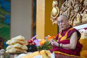 Его Святейшество Далай-лама в монастыре Сера Лачи. Билакуппе, Карнатака, Индия. 5 июля 2013 г. Фото: Тензин Чойджор (офис ЕСДЛ)