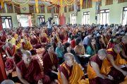 Во время предварительного посвящения Ямантаки в монастыре Дзонкар Чоде в тибетском поселении Хунсур. Карнатака, Индия. 12 июля 2013 г. Фото: Тензин Такла (офис ЕСДЛ)