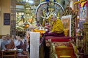 Заключительный день трехдневных учений Его Святейшества Далай-ламы, которые проводились в главном тибетском храме по просьбе группы буддистов из Кореи. Дхарамсала, Индия. 27 августа 2013 г. Фото: Тензин Чойджор (офис ЕСДЛ)