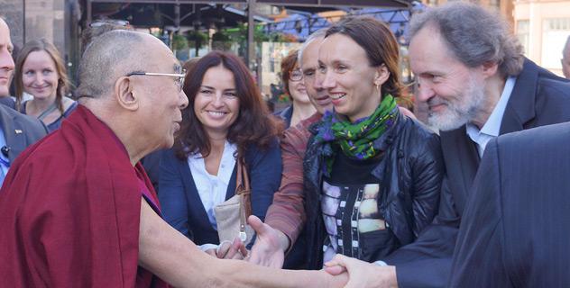 Его Святейшество Далай-лама прибыл в столицу Литвы Вильнюс